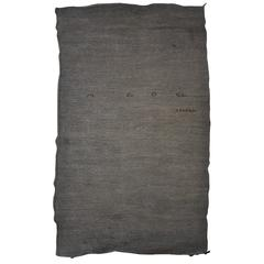 19th Century Turkish Natural Linen and Cotton Weave Rug