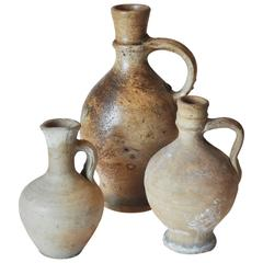 Early 20th Century Clay Pitcher Collection