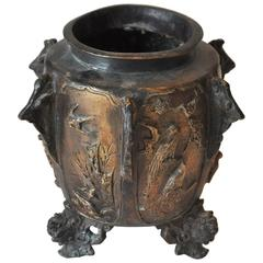 19th Century German Bronze Footed Urn