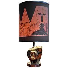 Mid-Century Modern Table Lamp by Paolo Granchi