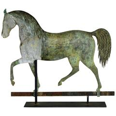 Exceptional Copper and Zinc Horse Weathervane