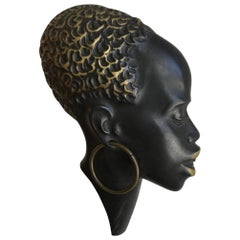 Hagenauer Style Bronze African Female Head Wall Decoration - Super sale