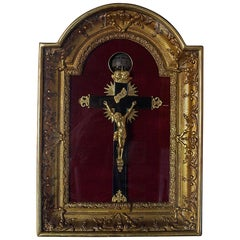 Extremely Rare French Crucifix Wall Rotary Clock