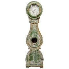 100% Original Painted Swedish Long Case Mora Clock