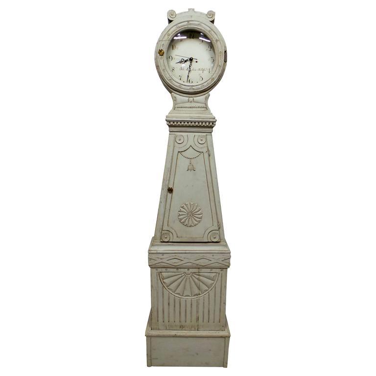 Swedish Gustavian Long Case Clock