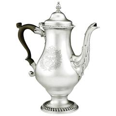 Extremely Fine George III Coffee Pot Made in London in 1772 by John Deacon