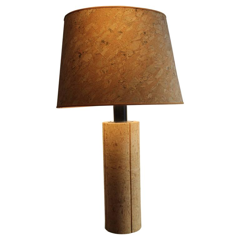 Ingo Maurer Table Lamp In Cork, 1970s 1