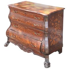 19th Century Dutch Marquetry Chest of Drawers