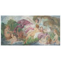 Large Italian Oil Painting