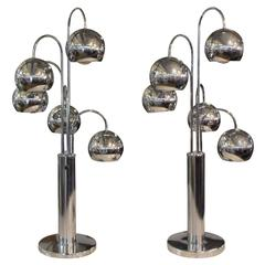 Sonneman Eyeball Cascade Pair of Lamps