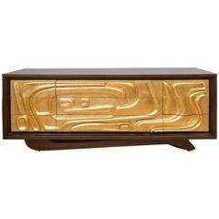 Brutalist Gold Gilt Dresser