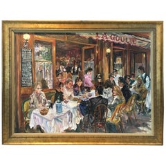 Magical Impressionist Painting of La Goulue Restaurant by Tsar