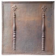 18th Century 'Pillars with Fleur-de-lis' Fireback
