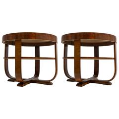 Déco Side Tables, Pair