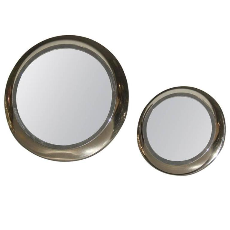 Round Mirrors of Drawers, 1960 Attributed Sergio Mazza For Sale