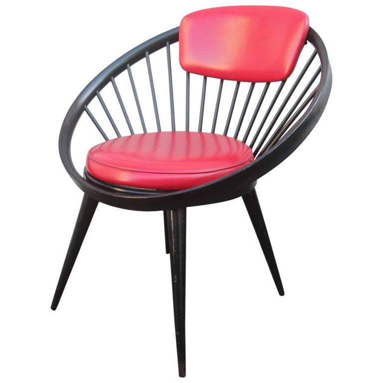 Round Chairs For Sale: Round Chair By Yngve Ekstrom, 1960 For Sale At 1stdibs
