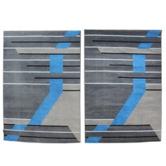 Pair of Designer Rugs Geometrical, 1980