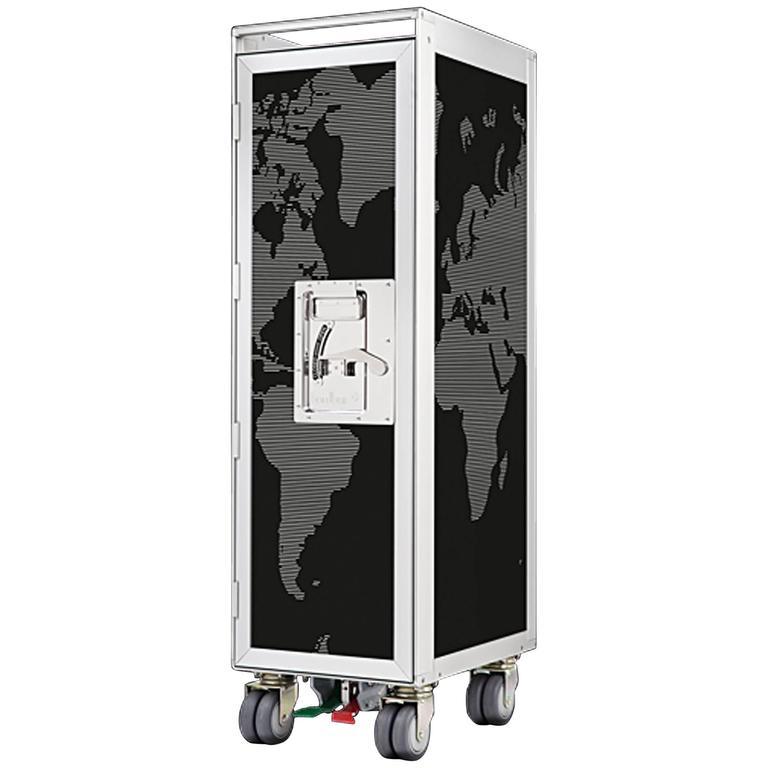 World Black Aircraft Bar Trolley Unique Design