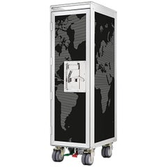World Black Aircraft Bar Trolley