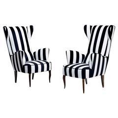 Pair of Italian club chairs