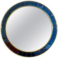 Circular Italian Mirror by Cristal Arte