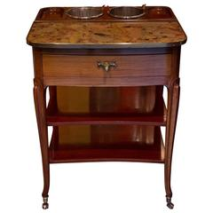 French Late 19th Century Mahogany Wine or Champagne Table Cooler, circa 1890