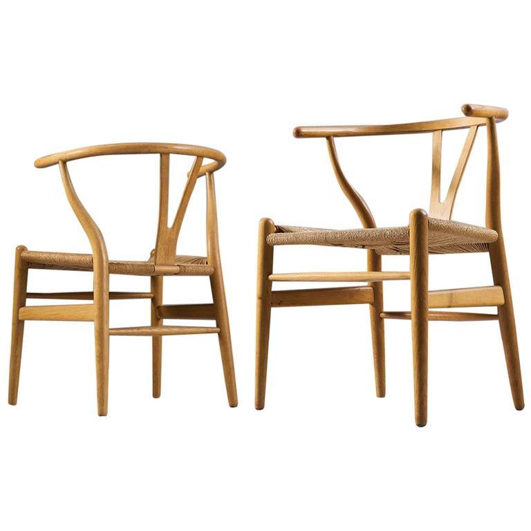 Two Wishbone CH24 Hans Wegner Y Chairs 1