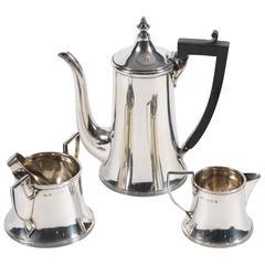 Early 20th Century Silver Three-Piece Coffee Set