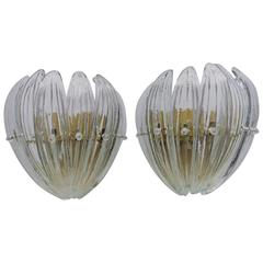 Luxe Pair of Mid-20th Century Modern Sconces by Carl Fagerlund