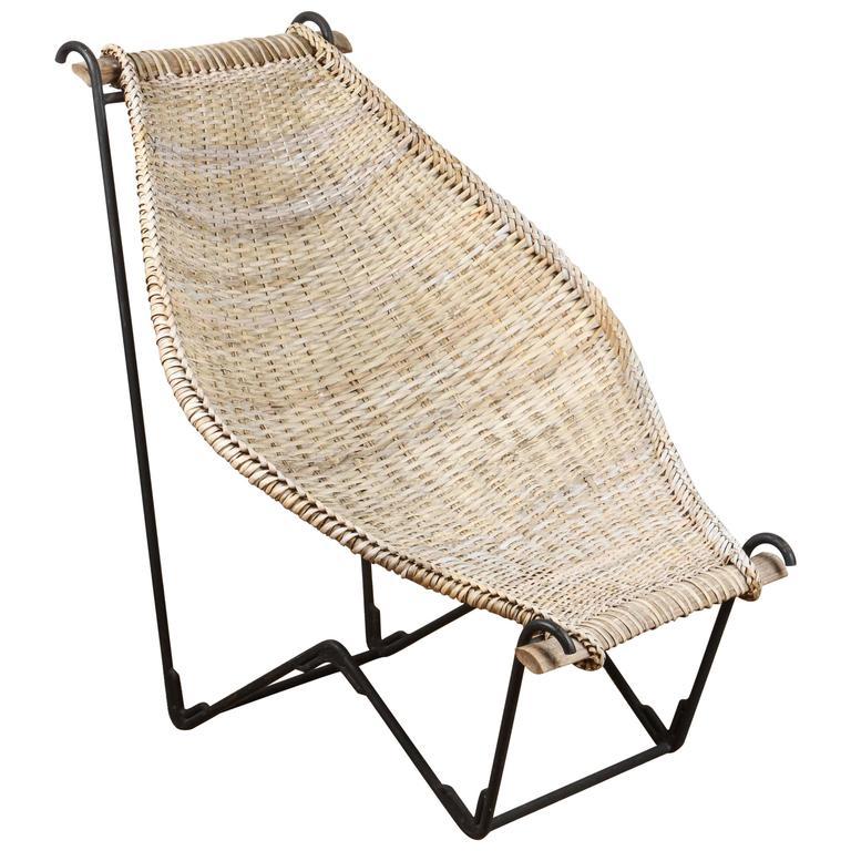John Risley Rattan Dunyan Lounge Chair For Sale