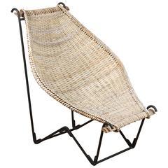 John Risley Rattan Dunyan Lounge Chair