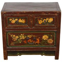 Chinese Painted Chest Drawers