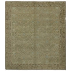 New Transitional Turkish Khotan Rug with Craftsman Bungalow Home Style