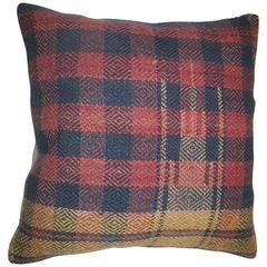 Plaid Vintage Rug Pillow