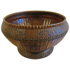 Antique Basketry Bowl