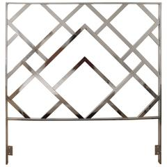 Milo Baughman for D.I.A., Queen-Size Polished Chrome Headboard