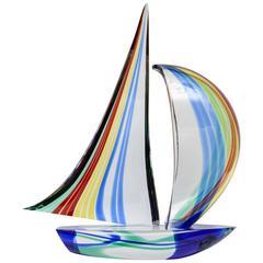 Sculpture Boat in Murano Glass