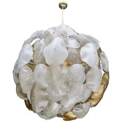 Opulent Murano Glass Sphere Chandelier