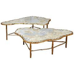 Pair of Onyx Meteorite Low Tables