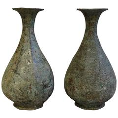 Bronze Pair of Urns, China, Contemporary