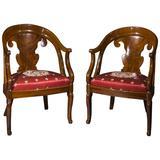 Pair of Armchairs En Gondoles