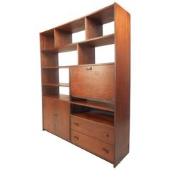 Large Mid-Century Modern Walnut Book Case