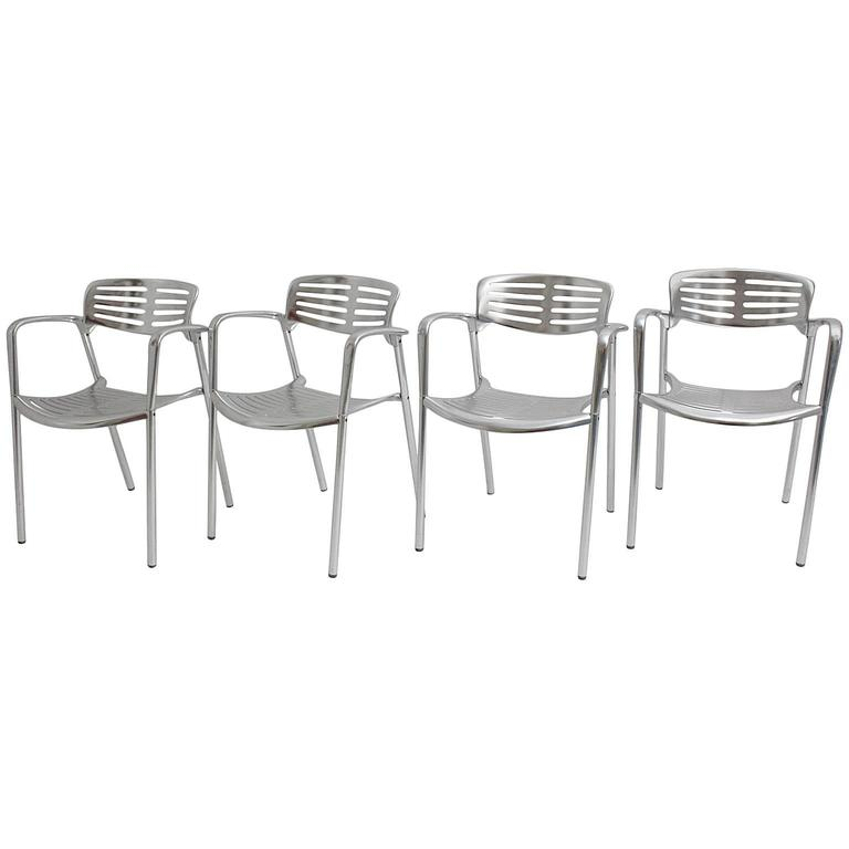 Aluminum Stacking Chairs by Jorge Pensi, Spain