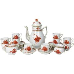 Herend 'Chinese Bouquet' Porcelain Demitasse Service for Ten