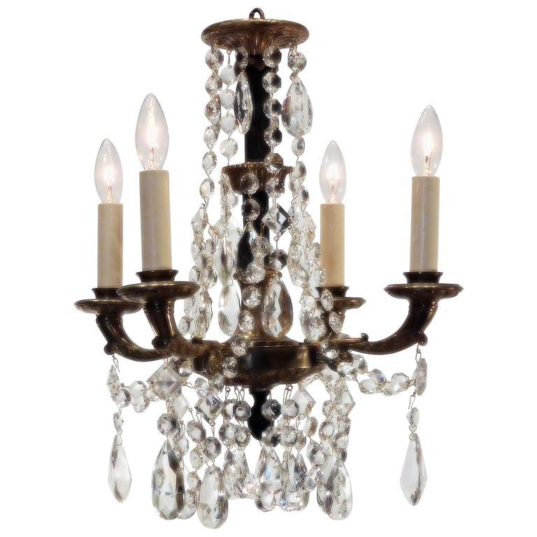 Neoclassical four light petite chandelier sweden at 1stdibs neoclassical four light petite chandelier sweden for sale aloadofball Images
