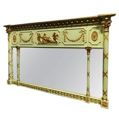 Regency Parcel Gilt and Painted Mirror