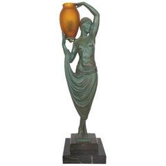 Pierre Lefaguay Daum Glass French Art Deco Lighted Sculpture