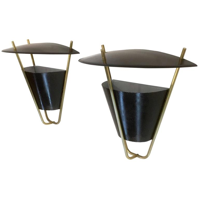 Interior and Exterior Sconce Lamp Pair by Lightolier For Sale at 1stdibs