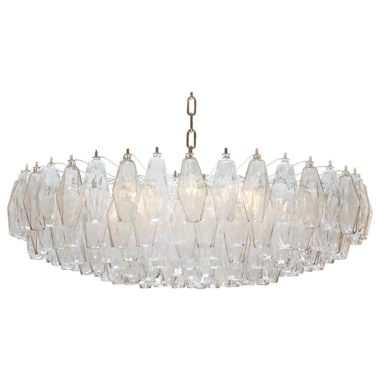 Murano glass poliedri smoke and clear chandelier murano glass poliedri smoke and clear chandelier aloadofball Choice Image