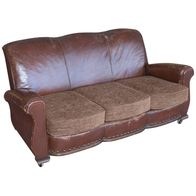 vintage settee for sale vintage leather settee for at 1stdibs 6862